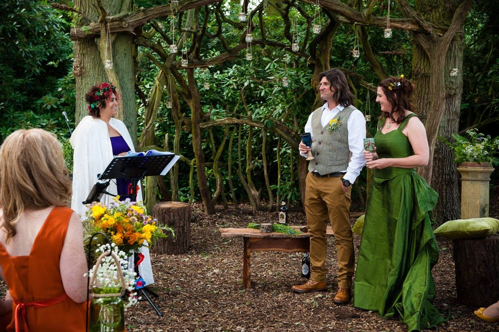 Yorkshire Celebrant Woodland Wedding Escrick Park Estate