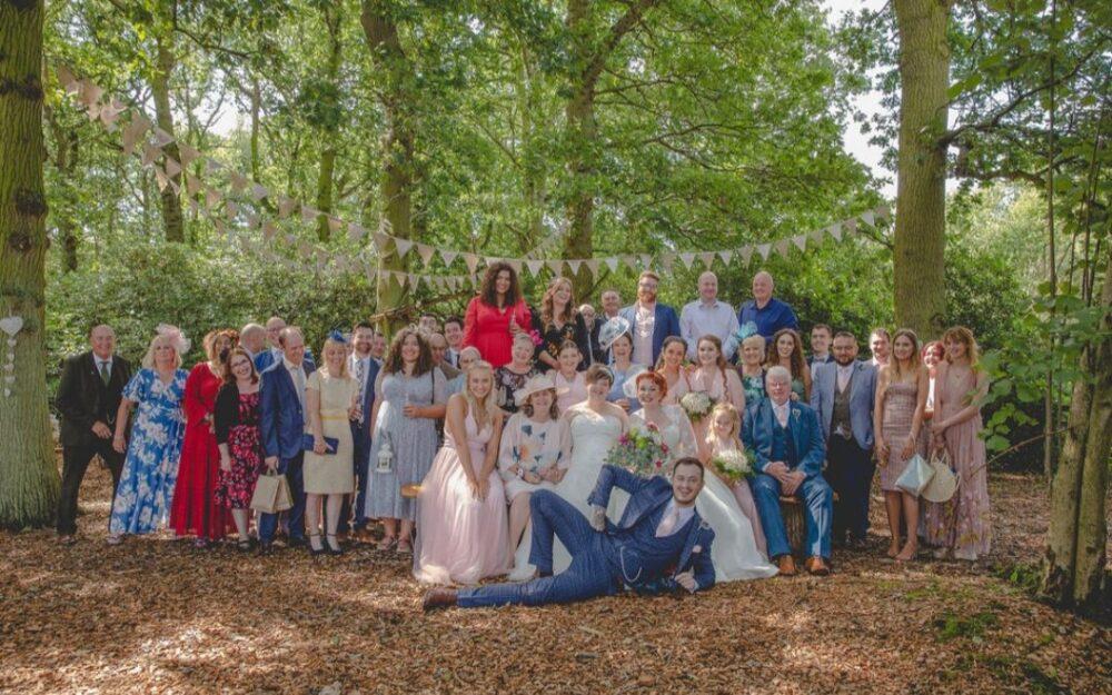 Woodland Wedding Ceremony Venue in Yorkshire Countryside
